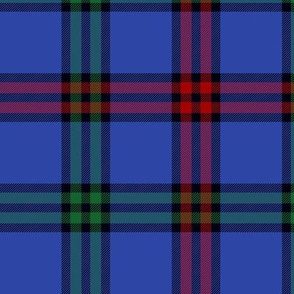 Montgomerie tartan -  red / green / true blue