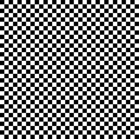 Quarter Inch Black and White Checkered fabric by mtothefifthpower on Spoonflower - custom fabric