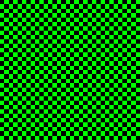 Quarter Inch Black and Lime Green Checkered fabric by mtothefifthpower on Spoonflower - custom fabric