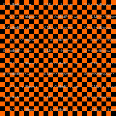 Quarter Inch Black and Orange Checkered