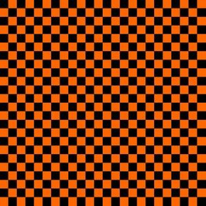 Quarter Inch Black and Orange Checkered