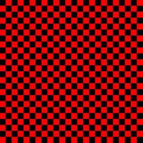 Quarter Inch Black and Red Checkered
