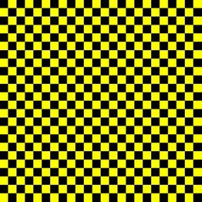 Quarter Inch Black and Yellow Checkerboard