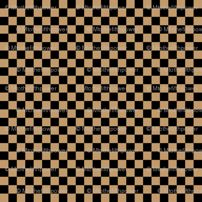Quarter Inch Black and Camel Brown Checkered