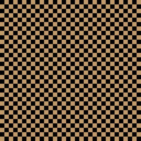 Quarter Inch Black and Camel Brown Checkered fabric by mtothefifthpower on Spoonflower - custom fabric