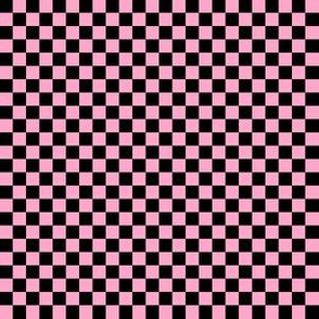 Quarter Inch Black and Carnation Pink Checkered