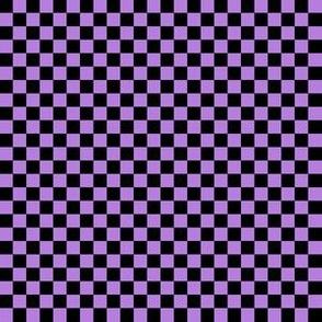 Quarter Inch Black and Lavender Purple Checkered
