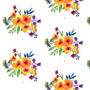 Bold Watercolor Bouquets