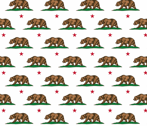 California Bear  fabric by shandubdesigns on Spoonflower - custom fabric
