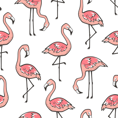 Flamingos fabric by caja_design on Spoonflower - custom fabric