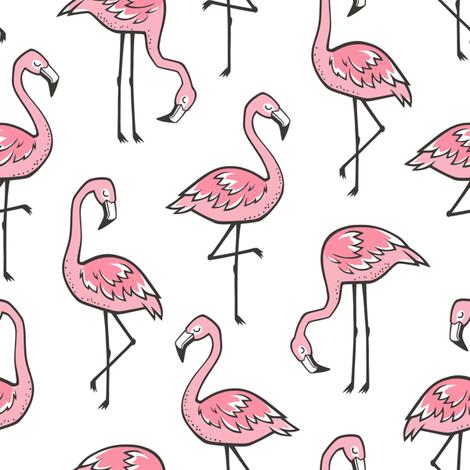 Flamingos Pink fabric by caja_design on Spoonflower - custom fabric
