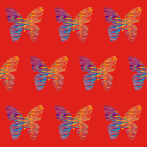 Pinata Party Butterfly on Deep Orange fabric by anniedeb on Spoonflower - custom fabric