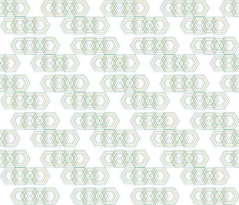 polygon_green fabric by kathrynmariedesigns on Spoonflower - custom fabric