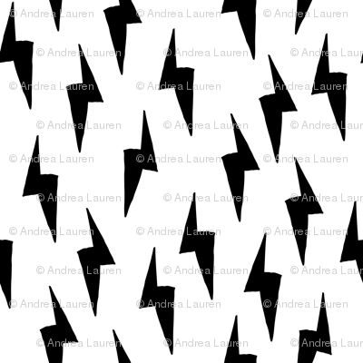 Bolt - Black and white ( Half-Size) by Andrea Lauren
