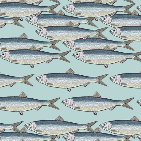 Herring fabric by susiprint on Spoonflower - custom fabric