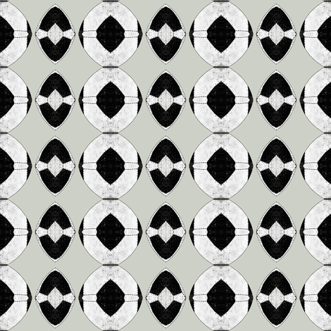 voodoo black and white basic fabric by susiprint on Spoonflower - custom fabric