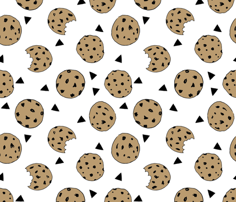 cookies // food kids nursery baby illustration fabric by andrea_lauren on Spoonflower - custom fabric