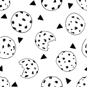 cookies // black and white kids food hand-drawn illustration