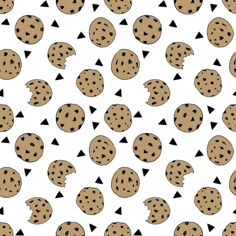 Cookies food chocolate chip biscuits kids triangle for Novelty children s fabric