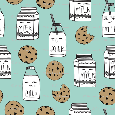 milk and cookies // mint food kids nursery baby kids
