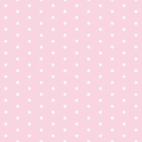 dot // sweet pastel baby pink polka dots