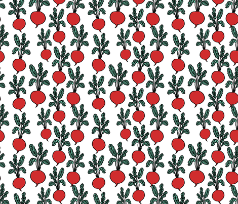 beets // farmers market vegan veggies healthy summer kids print fabric by andrea_lauren on Spoonflower - custom fabric