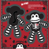 "TS - 4"" x 6"" Skeleton Monkey Cut & Sew Pillow Doll"