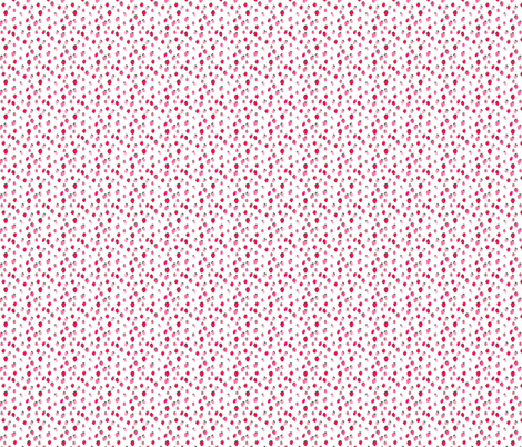 Small Watercolor strawberries Summer fabric by thislittlestreet on Spoonflower - custom fabric