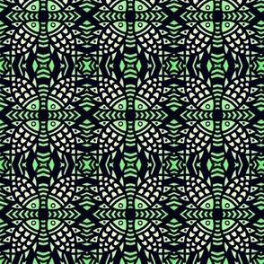 Tribal Fish Lime Green