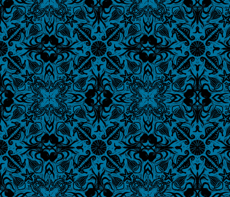 SEA_-TILED_deepblue fabric by gemma_elliott on Spoonflower - custom fabric