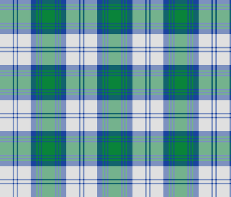 Lindsay dress tartan - blue, green, white fabric by weavingmajor on Spoonflower - custom fabric