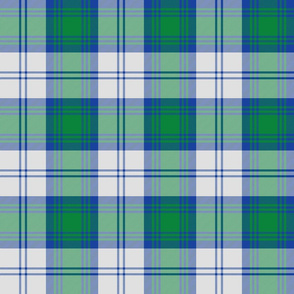 Lindsay dress tartan - blue, green, white