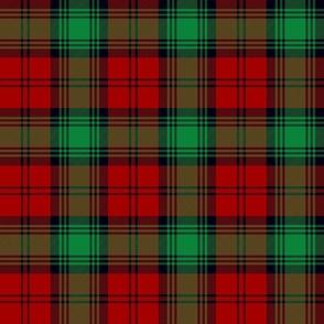 Lindsay tartan - red, green, black