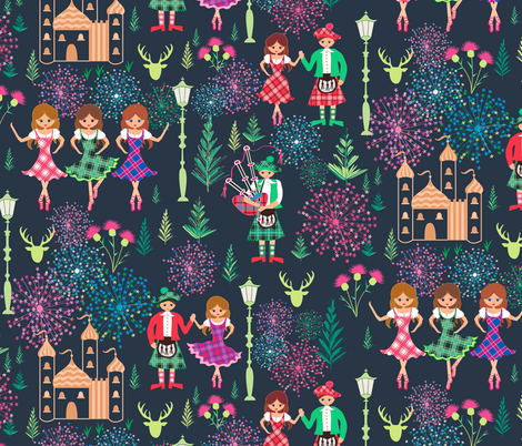 Auld lang syne fabric by jill_o_connor on Spoonflower - custom fabric
