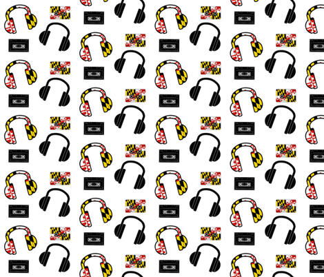 + maryland mixtape + fabric by shandubdesigns on Spoonflower - custom fabric