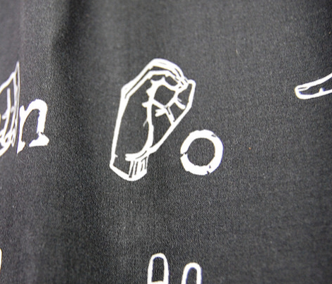 Sign Language Alphabet - White on Black