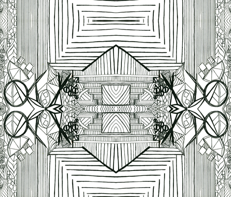 lineblack fabric by robinrichardsondesigns on Spoonflower - custom fabric