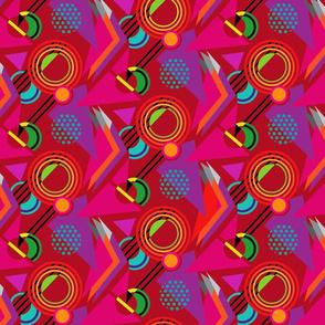 Deco Geometric Ruby