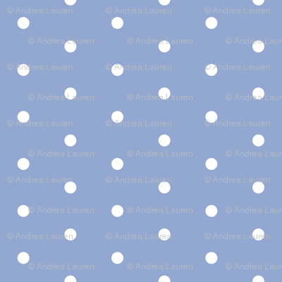 dot // dots spots polka dot blue periwinkle sweet little dots