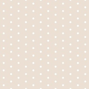 dot // sweet ivory off-white light taupe dots polka dots cute girls spots