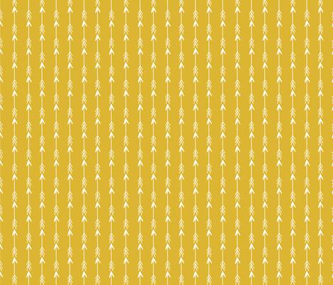 arrows // mustard gold boho hippie stripes arrows southwest cute girls coordinate fabric by andrea_lauren on Spoonflower - custom fabric
