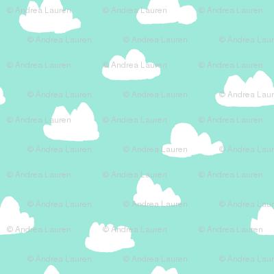 clouds // beach glass mint southwest pastel
