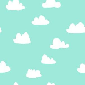 clouds // beach glass mint southwest pastel