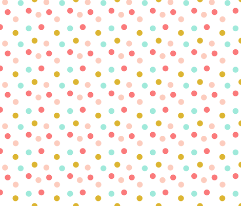 Multi dots // southwest girl cowgirl sprinkles  fabric by andrea_lauren on Spoonflower - custom fabric