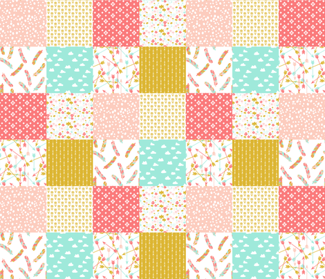 Cheater Quilt Squares // southwest girls nursery pastel fabric by andrea_lauren on Spoonflower - custom fabric