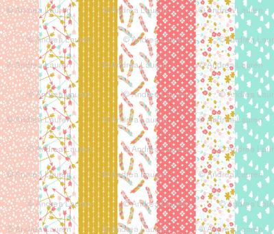 cheater quilt stripes // southwest girls nursery