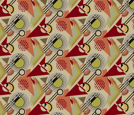 Deco Geometric Fall fabric by designsld on Spoonflower - custom fabric