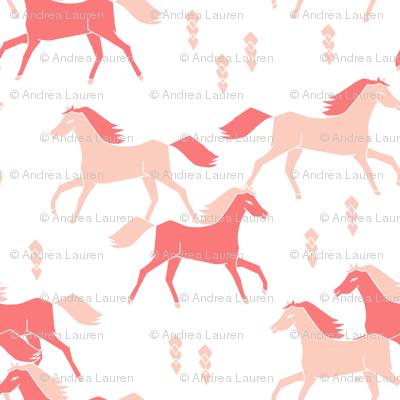 southwest horse pink pastel girls nursery crib leggings