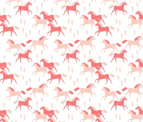southwest horse pink pastel girls nursery crib leggings fabric by andrea_lauren on Spoonflower - custom fabric