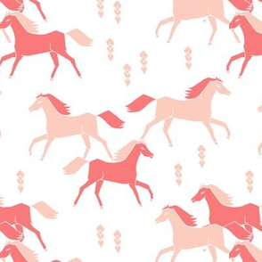 southwest horse pink pastel girls nursery crib leggings